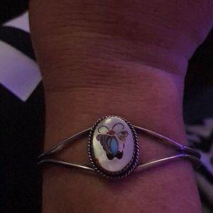Jewelry - Butterfly MOP Sterling Silver Cuff Bracelet